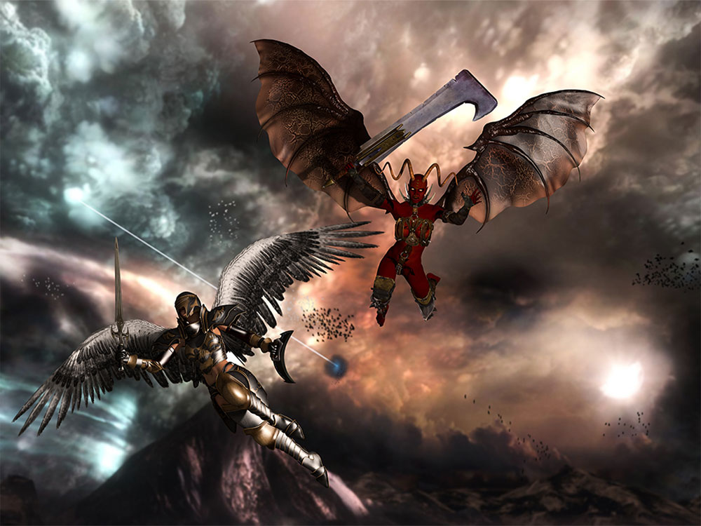 Angels and Demons 3D Scene Render