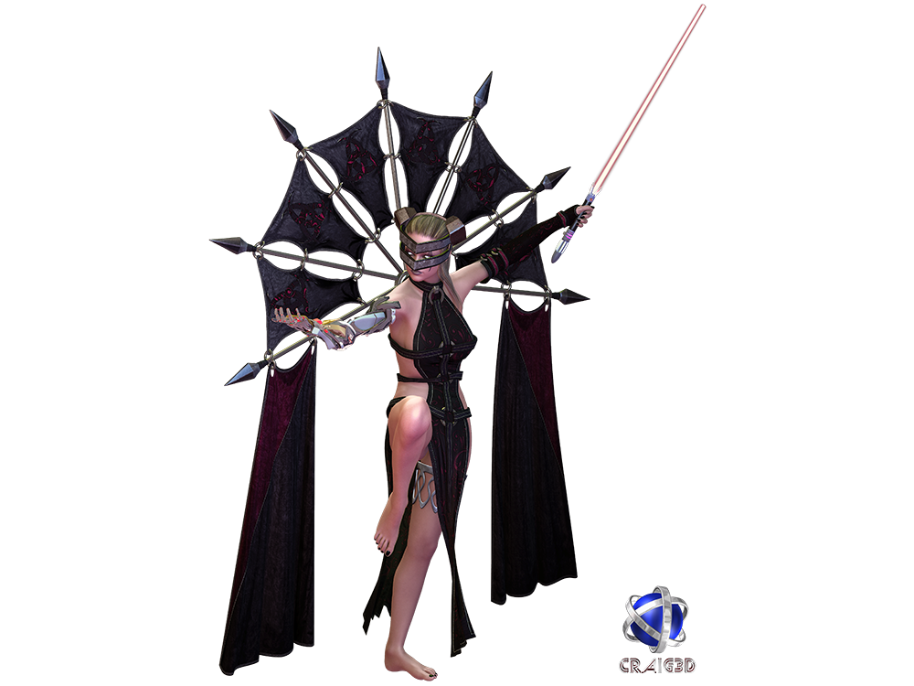 Blood Jedi 3D Stock Render