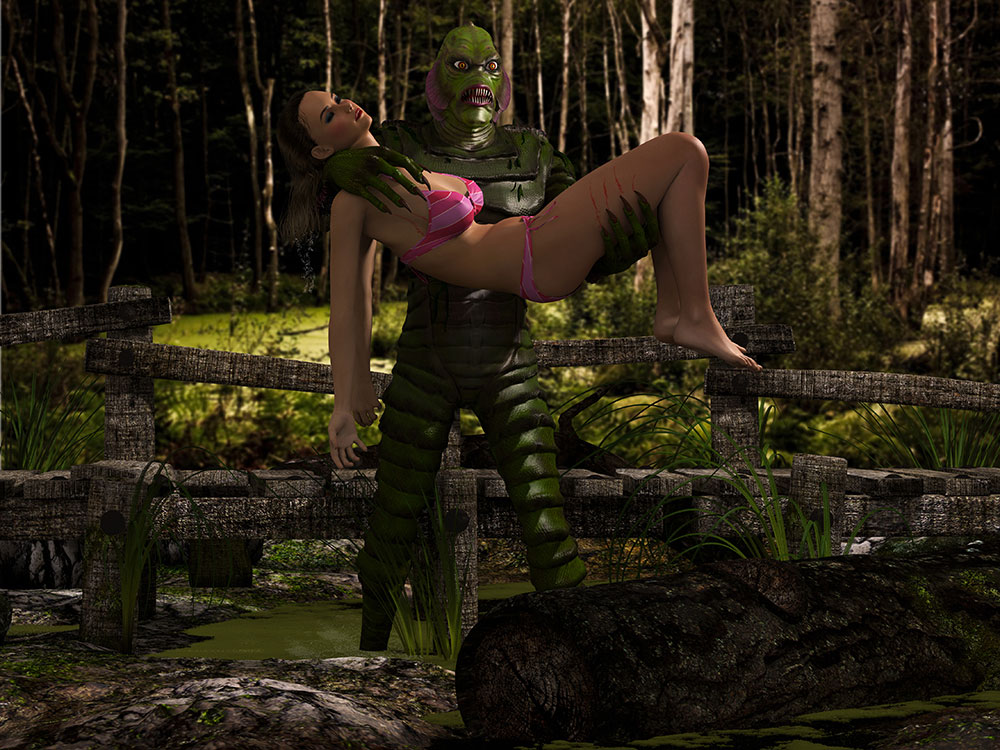 Creature from the Black Lagoon 3D Scene Render