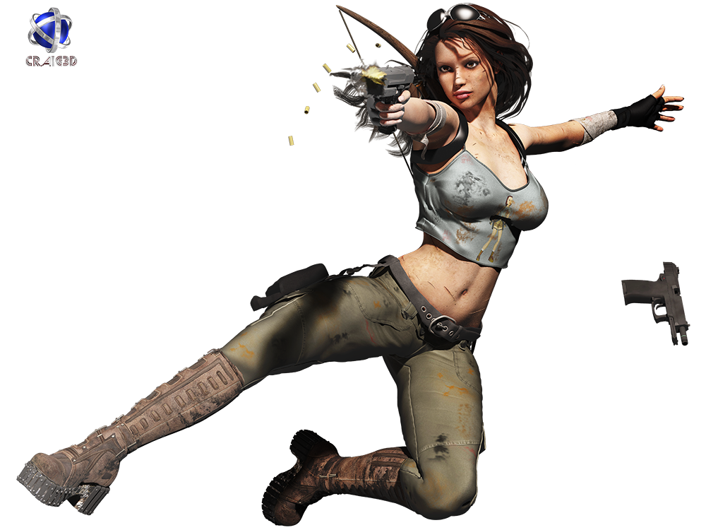 Lara Croft 3D Stock Render