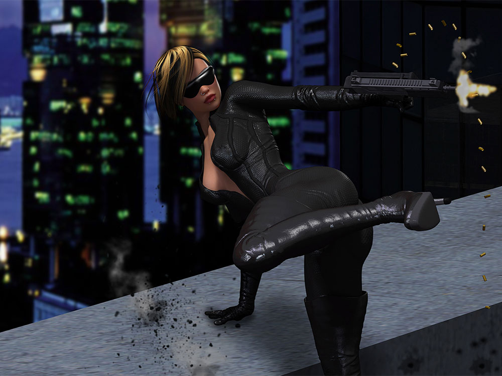 Ms. Anderson The Matrix 3D Scene Render