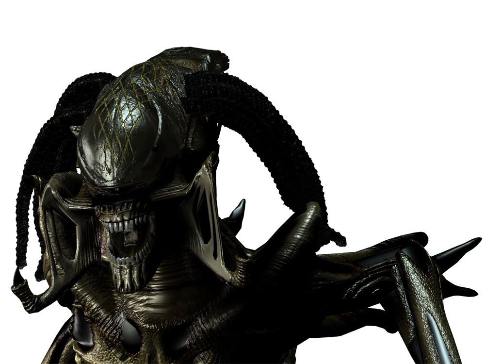 Predalien Portrait 3D Stock Render