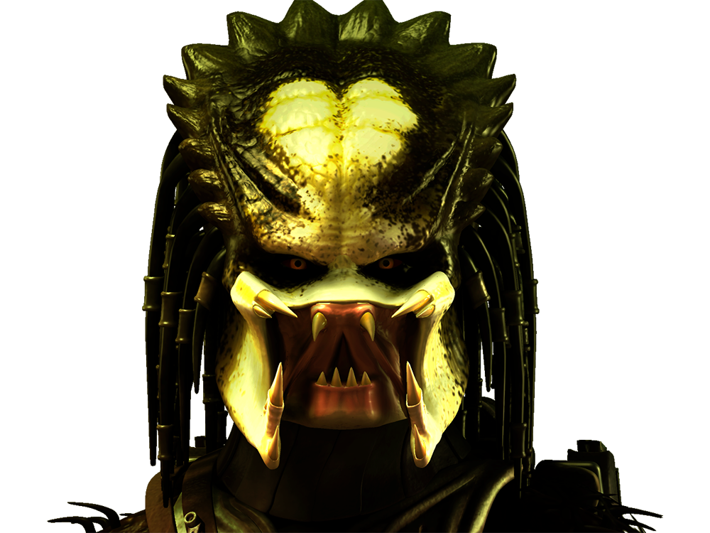 Predator Portrait 3D Stock Render