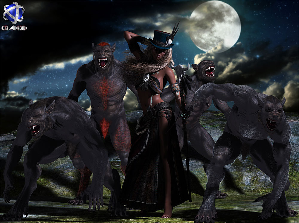 Queen of the Lycans 3D Scene Render