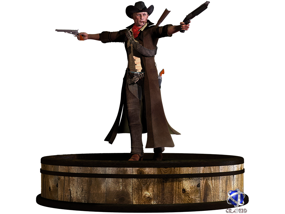 Red Dead Kade 3D Stock Render