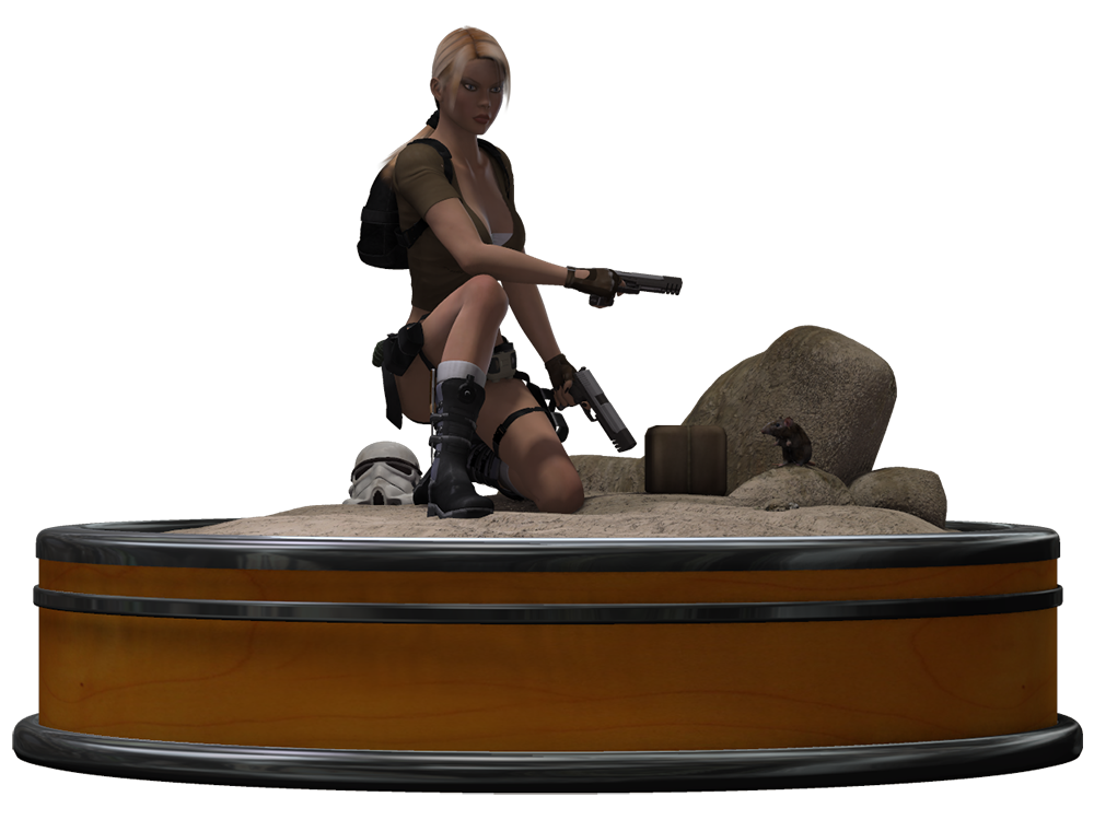 Treasure Hunter 3D Stock Render