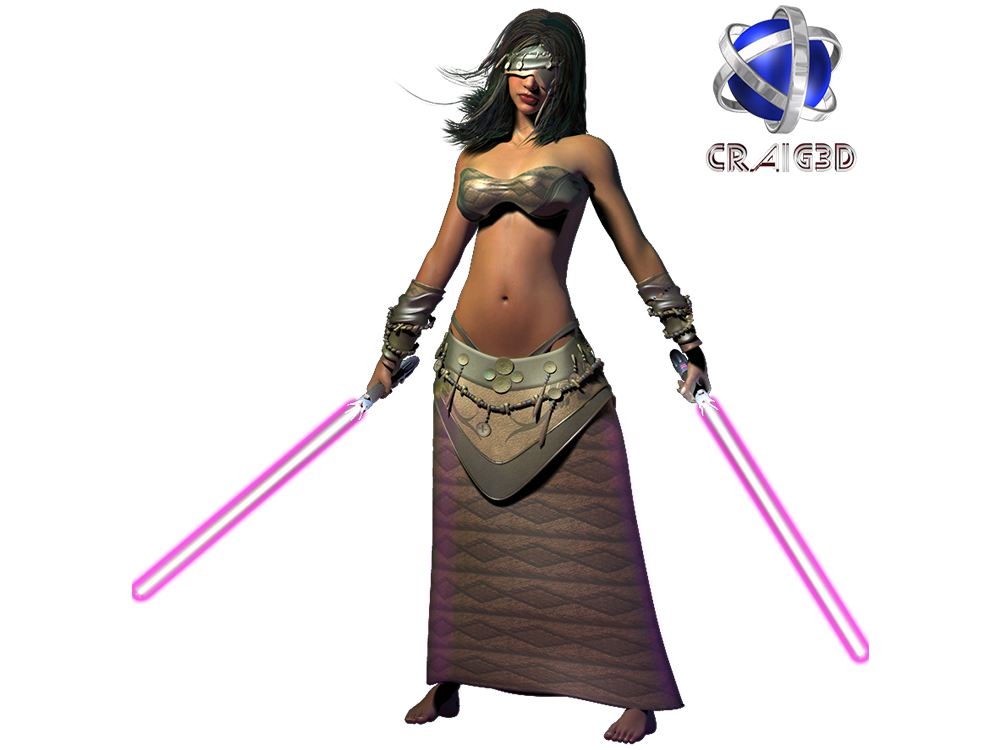 Candy Jedi 3D Stock Render
